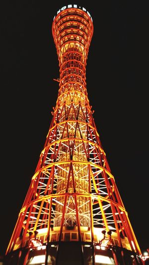 tower Night Nightphotography Tower Kobe Port Tower Illuminated City Sky Architecture Built Structure Electric Light Tall - High Light Bulb Filament