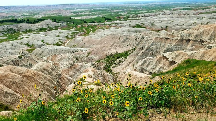 Badlands National Park Badlands National Park, South Dakota Vista Horizon Nature Nature Photography Naturelovers Nature On Your Doorstep Earth Beach High Angle View Landscape Sky