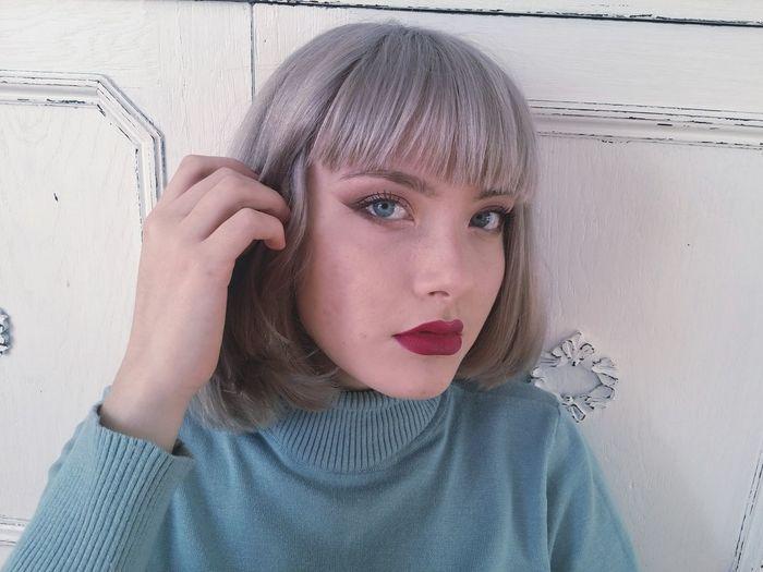 My Myself Selfpotrait Silver Hair