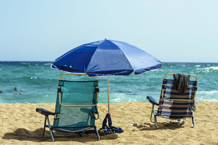 Beach Life Objects Beach Beauty In Nature Blue Chair Clear Sky Day Horizon Horizon Over Water Land Nature Outdoors Parasol Relaxation Sand Scenics - Nature Sea Seat Sky Summer Umbrella Vacations Water Beach Umbrella Deck Chair Sunshade Lounge Chair Folding Chair Calm Summer Exploratorium The Still Life Photographer - 2018 EyeEm Awards A New Perspective On Life