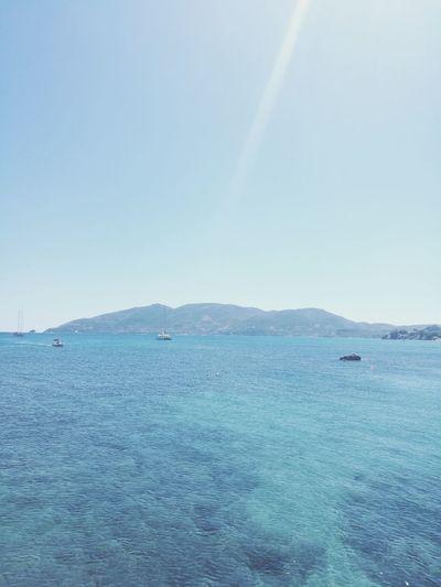 Greece Zakynthos Zakynthos,Greece Water Sea UnderSea Blue Beach Clear Sky Summer Sky Horizon Over Water