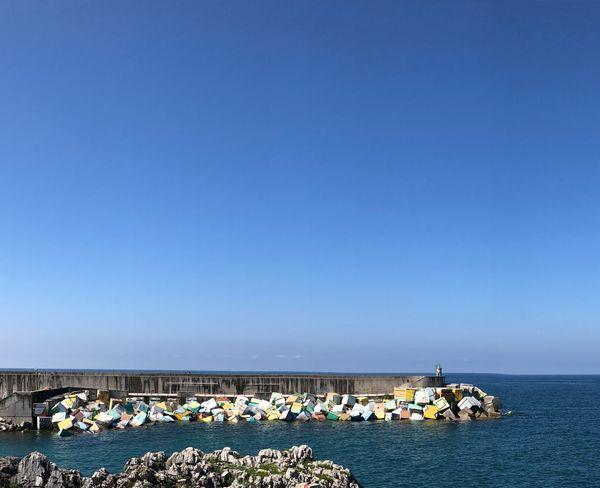 Llanes Porto Cammino Di Santiago Cammino Del Nord Sky Copy Space Water Clear Sky Sea Blue Land