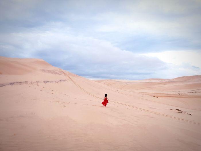 A New Beginning Sand Dune Desert Arid Climate Adventure Sand Summer