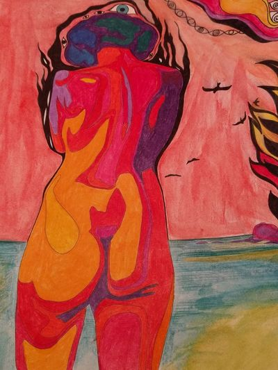 Colorful Human Representation Back Butts Surreal Psychedelic Psychedelicdreams Psychedelicart Psyched Psychedelique No People Multi Colored Close-up No People Day Outdoors Behind Pencils Pencilart Colors Akt Artsy ArtsyFartsy Artsy Fartsy Bunt ❤️ Ausgemalt EyeEmNewHere This Is My Skin Modern Art Paintings