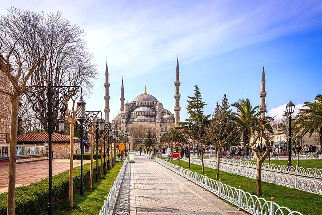 Blue Mosque Mosque Turkey Istanbul Old Mosque Ancient Park Outdoors❤ Culture Visit