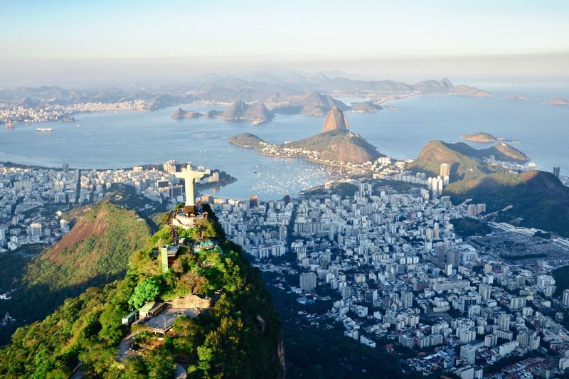 Bird Photography Christ Cristo Sugar Loaf Sea Building Exterior Water City Architecture High Angle View Sky Cityscape