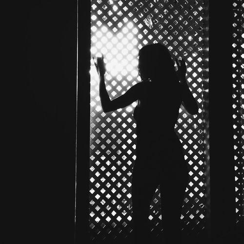 House arrest NEM Black&white Blackandwhite IPhoneography EyeEm Best Edits Selfportrait Woman NEM Self Vscocam Shootermag Silhouette