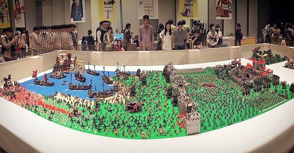 아.. 규모가 너무 커서 레고가 하나도 안보인다😂 ☆ 브릭코리아컨벤션 레고 Brickoreaconvention Brickorea 디오라마 Diorama