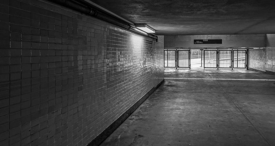 Interior Of Illuminated Underpass