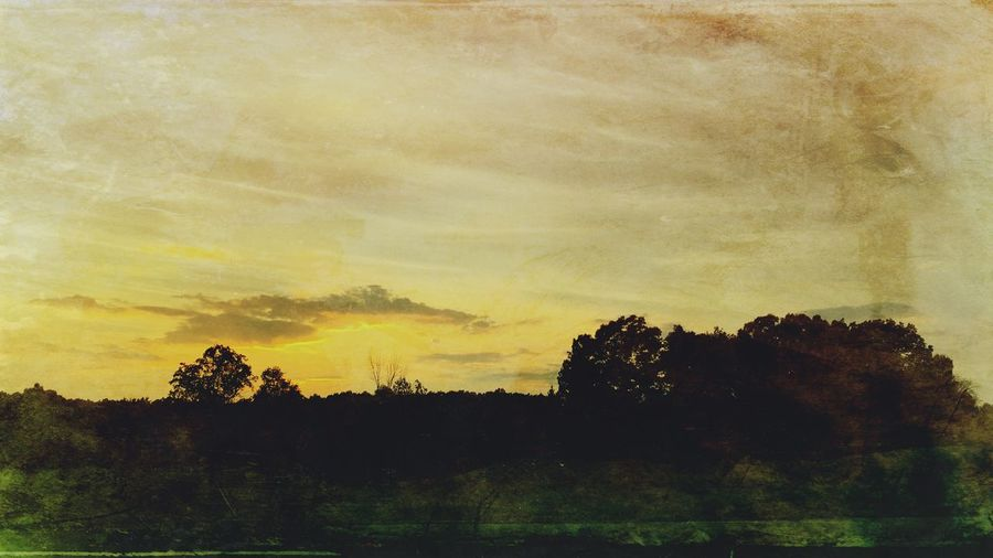 The Golden Hour Golden Landscape Sunset IPhoneography Watercolor Outdoor Dusk Clouds And Sky Painting Taking Photos
