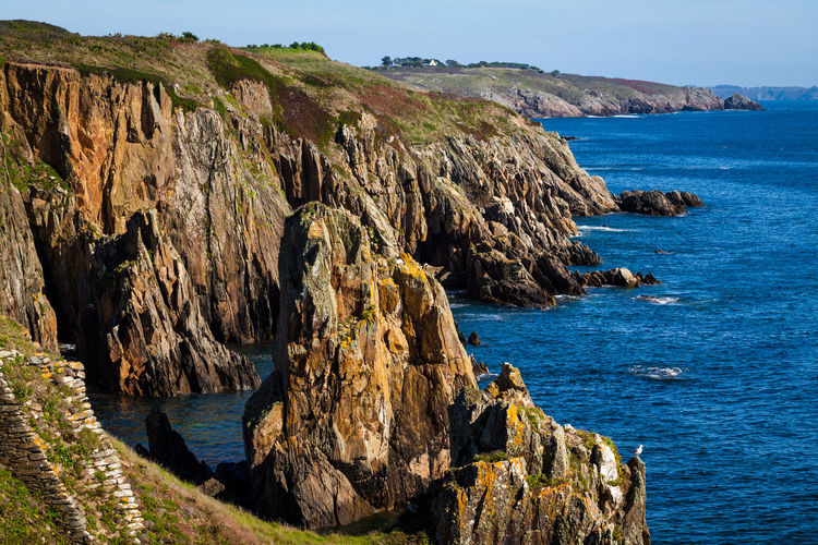 Cliffs Rock Formation Beauty In Nature Cliffside Costline Landscape Nature No People Physical Geography Scenics Sea Seaside Tranquility Water