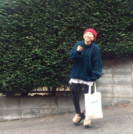 Fashion Popart Street Fashion Knit Bag Logo Hello World Smile Ootd Outfit