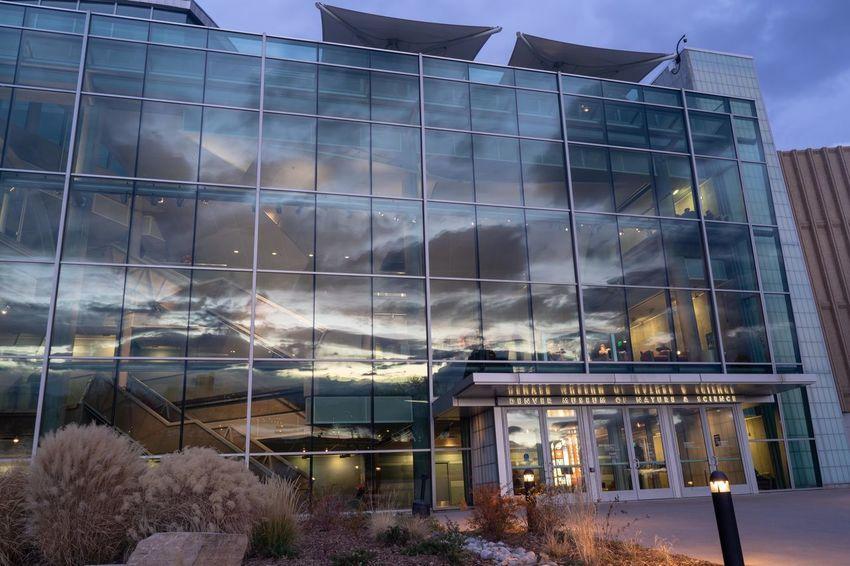 Building Exterior Architecture Glass - Material Window Reflection Sunset Denver Colorado Dusk
