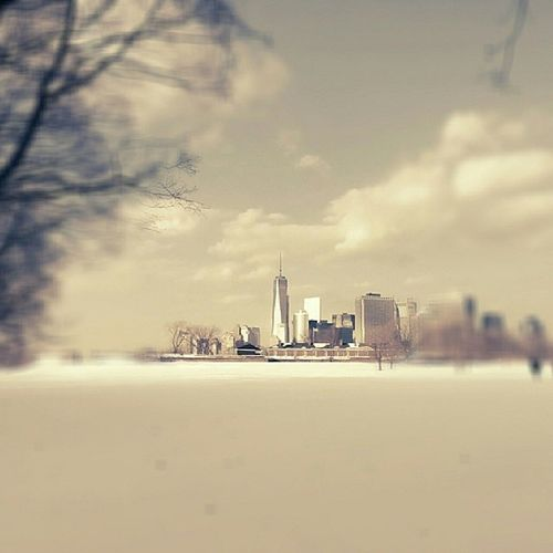 freedom tower from governor island. NYC.