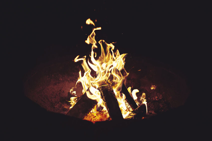 Adventure Bonfire Bright Burn Burning Camp Campfire Campfire Camping Dark Ember Explore Fire Fire - Natural Phenomenon Firewood Flame Flame Flames Glowing Heat Kindling Lit Nature Outdoors Wood