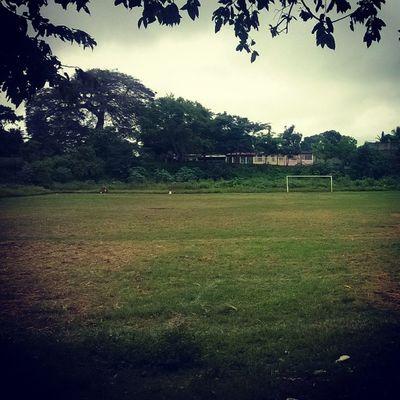 Asi estaba el terreno de juego! :) DomingoDeFutbol
