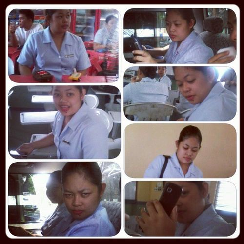 my duty buddy, my partner, my hater.. hahah.. want mOre pics partner @wilainejoy? hahah.. Duty Pmhu OnOurWay
