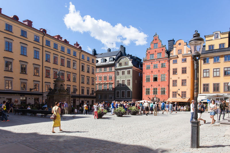View of the Stortorget, Old Town, Stockholm Architecture Building Building Exterior City Cloud - Sky Day Europe Large Group Of People Nordic Countries Scandinavia Stockholm Stockholm, Sweden Summer Sweden Tourist Travel Destinations