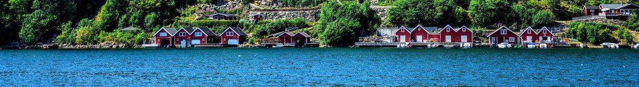 Boat houses in