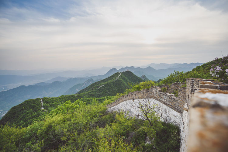 Great Wall of China, Jiankou wild and unrestored section ASIA Great Wall Great Wall Of China Nature Nikon D810 Architecture Beauty In Nature Bridge - Man Made Structure Built Structure Day Evening Sky Expore Mountains Jiankou Mountain Mountain Range Nature No People Outdoors Scenics Sky Spring Travel Destination Travel Destinations Tree Water