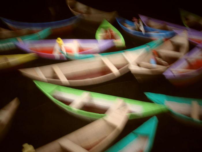 Amazon Art Boats Defocused Illuminated Miriti Multi Colored No People