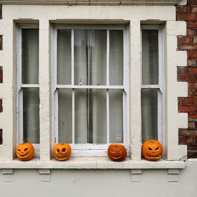 Window Building Exterior No People Outdoors Architecture Day Pumpkins Bristol, England Halloween Window Ledge Four