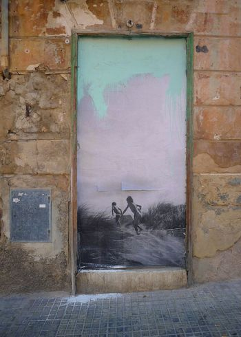 Street Art Decaying Building Mallorca No People SPAIN Mallorcastyle Decadence Escape From Reality Detailsofdecay Details And Colors Facade Detail