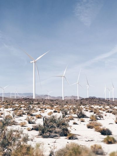 Alternative Energy Beauty In Nature Day Environment Environmental Conservation Field Fuel And Power Generation Land Landscape Nature No People Outdoors Renewable Energy Scenics - Nature Sky Sustainable Resources Technology Turbine Wind Power Wind Turbine