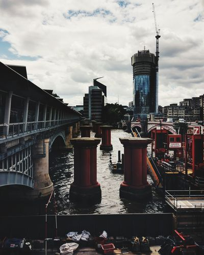 London Lifestyle Urban Skyline City Outdoors Architecture Business Finance And Industry Travel Destinations Social Issues No People Skyscraper Sky Cityscape Day Blackfriars Bridge Blackfriars London Londonlife