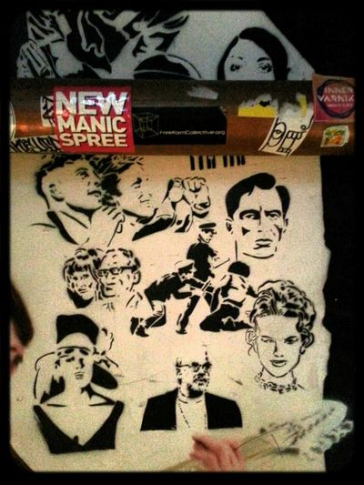 Stencil by Ha Ha of Nicole Kidman and others at Section 8