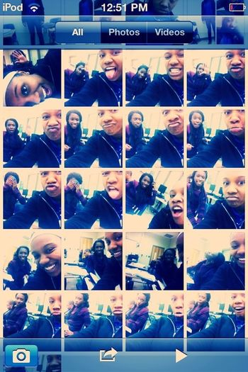 Me and Shakia playing around in Accounting class