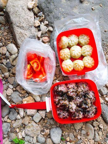 Picnicday Picnic Lunch Break Mountain Family Tomato Mandu Rice