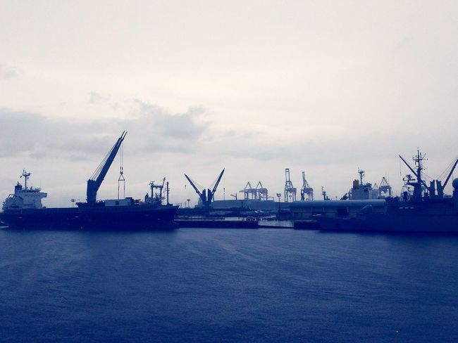 Sea industry Industry Shipping Docks Shipping Terminal Shipping Container. Shipping Doc Crane Seaport Gloomy Sunday