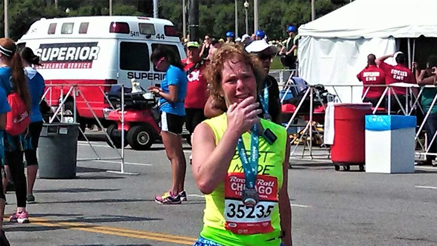 Her first Half Marathon Power Of The Mind Beastmode City Day First Half Marathon Group Of People Incidental People Leisure Activity Lifestyles Outdoors People Power Of The Spirit Race Day Real People Road Street Tearsofjoy Women