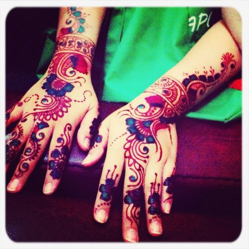 Enjoying Life wit ur Henna just simple Culture and Nail Art