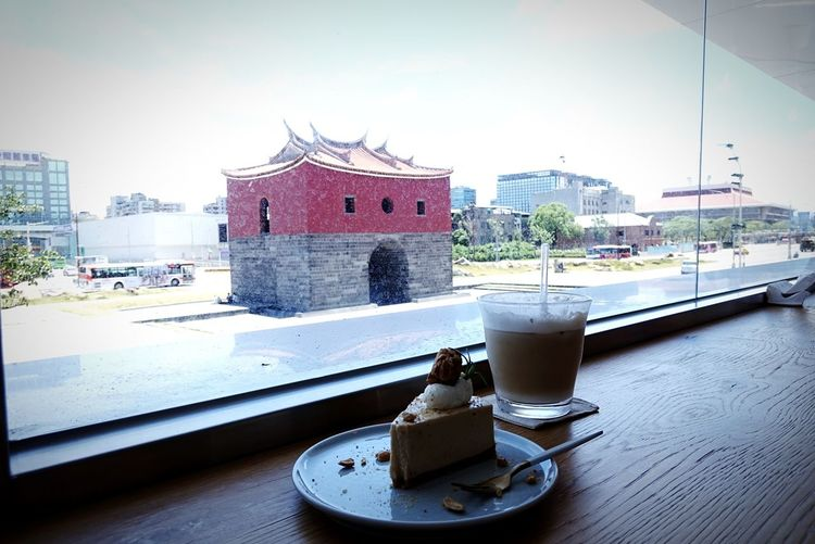 Taipei city Taiwan Taipei Coffee Cake Sunny Day Summertime Nautical Vessel Water Harbor Roof Architecture Building Exterior Built Structure Skyscraper Skyline