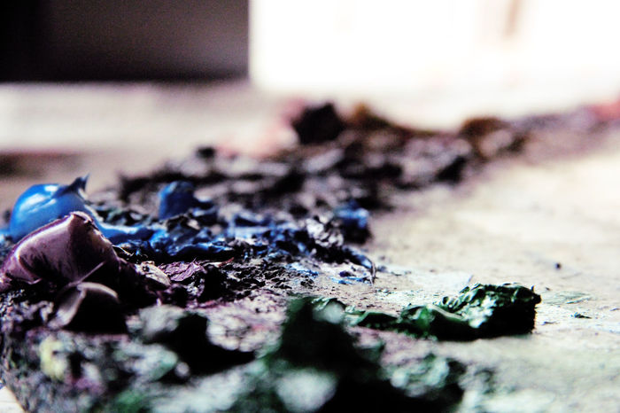 Blue Oil Oil Painting Painting Painting Art Purple Textures And Surfaces óleo