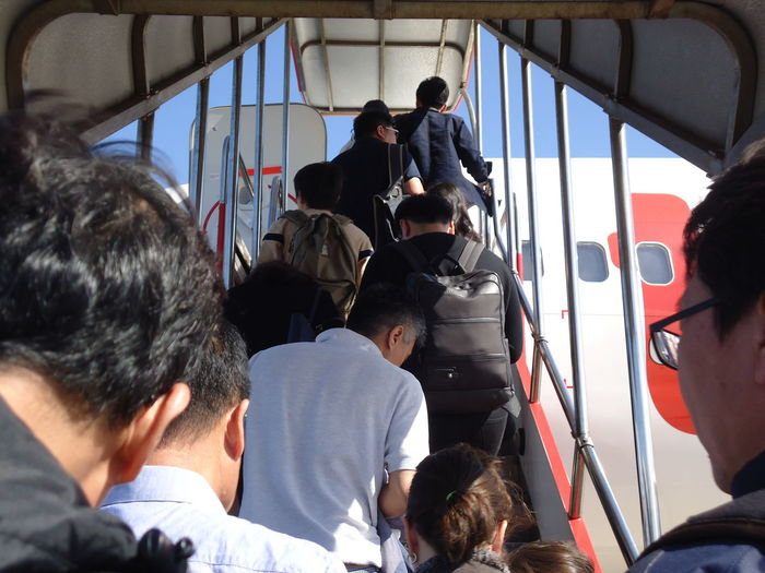 Plane Second Acts Travel Traveling Day Large Group Of People Men Outdoors People Transportation