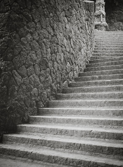 A staircase leading up to a temple. Stairway Architecture Black And White Built Structure Direction History Low Angle View Moving Up No People Staircase Steps And Staircases Stone Material Stone Wall The Way Forward Wall - Building Feature