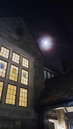 City Window Architecture Built Structure Stained Glass Rose Window Architecture And Art Moon Surface Full Moon Moon Moonlight