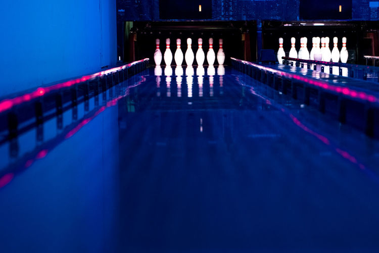 Go-west-photography.com Bowling Pins Sports Sport Indoors  Indoor Sports Illuminated Arts Culture And Entertainment Reflection Lighting Equipment Technology Nightlife