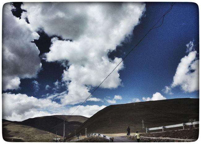 Beauty In Nature Sky Mountain Range Blue Outdoors Tourism National Landmark