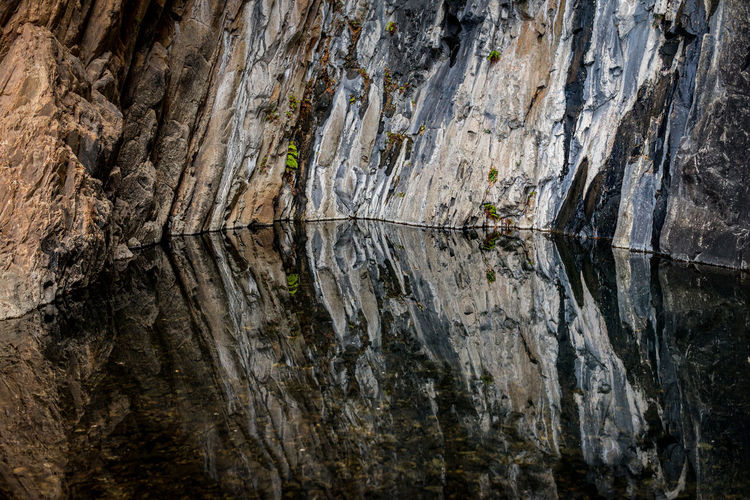 Full frame shot of rock formation in water