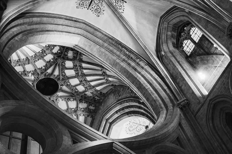 Architecture Built Structure Cathedral Design Fishbone Indoors  Interior Interior Views No People Pattern Place Of Worship Shadows Shadows & Lights Stone Texture Windows