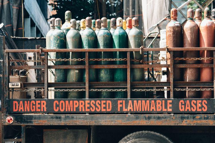 Cylinders on vehicle