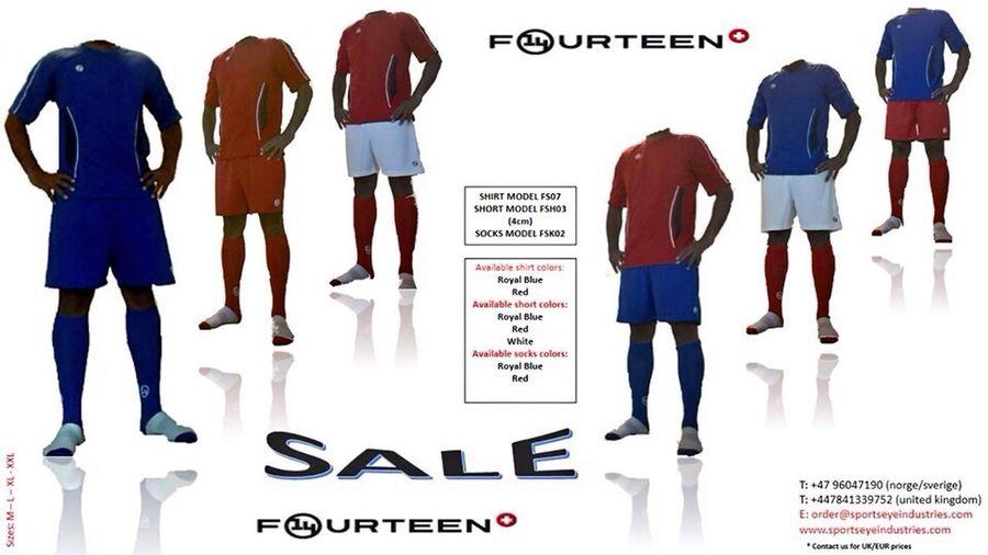 FOURTEEN ny sportsklær i Norge - FOURTEEN nytt sportskläder in Sverige Training Game Soccer Cheering