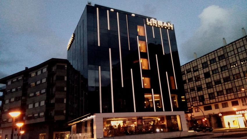 Urban Hotel Amazing Galicia Tranquility Viveiro Galicia, Spain Architecture Built Structure Building Exterior Night City Low Angle View Sky Travel Destinations Cityscape