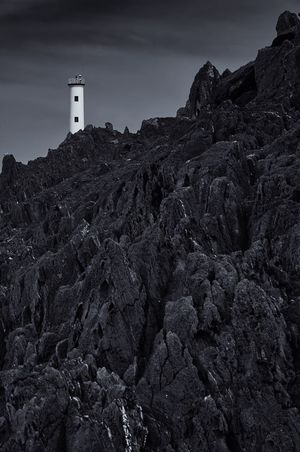 Rocks Rocas Cabo Home Faro Lighthouse Architecture Low Angle View No People Sky Building Exterior Built Structure Day Outdoors Nature