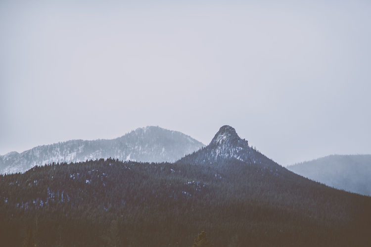 Mountain Sky Scenics - Nature Beauty In Nature Tranquil Scene Tranquility Mountain Range Non-urban Scene No People Nature Day Environment Outdoors Idyllic Majestic Mountain Peak Landscape Cold Temperature Fog Snowcapped Mountain