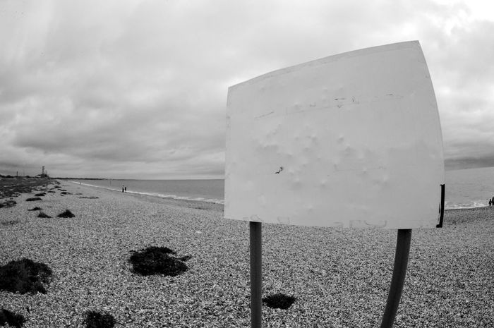 Untilitled Beach Black And White Blackandwhite Cloud - Sky Communication Day Information Land Nature Outdoors Plant Sea Sign Sky Tranquil Scene Tranquility Water